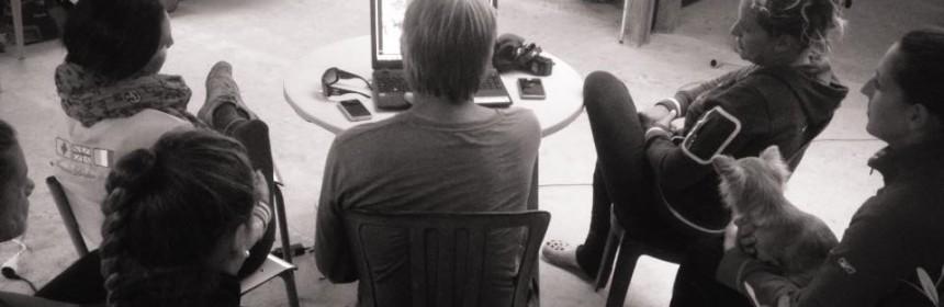Travail sur la vidéo, stage Claude Michelet