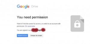 demande autorisation google drive